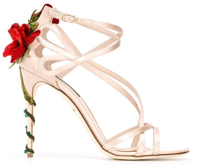 Dolce & Gabbana climbing rose sandals