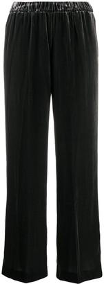 Aspesi High-Waisted Velvet Trousers
