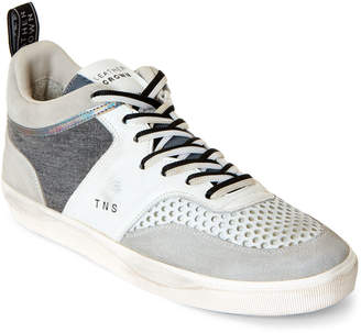 Leather Crown White & Grey TNS Low-Top Sneakers