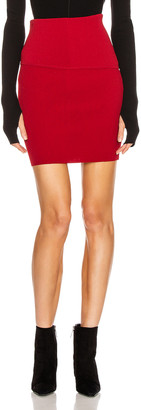 Helmut Lang Stretch Skirt in Lava | FWRD