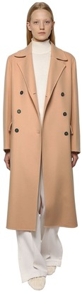 Jil Sander DOUBLE BREASTED WOOL & CASHMERE COAT