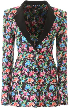 Paco Rabanne Floral Print Single Breasted Blazer