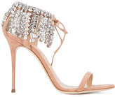 Giuseppe Zanotti Design Carrie crystal-embellished sandals - women - Leather/Suede/glass - 36.5