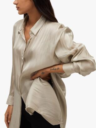 MANGO Bagno Longline Shirt, Gold