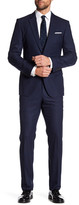 HUGO BOSS Navy Harvers Glover Two Button Notch Lapel Trim Fit Suit