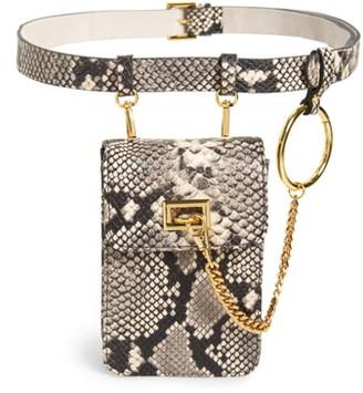 B-Low the Belt Ari Python Embossed Leather Belt Bag