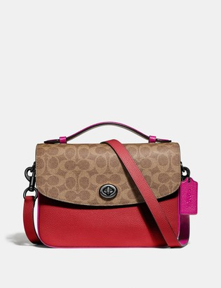 Coach Cassie Crossbody With Signature Canvas Blocking