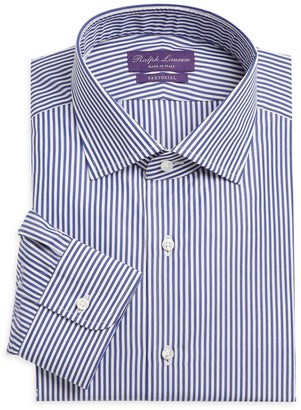 Ralph Lauren Purple Label Aston Striped Tailored Long-Sleeve Dress Shirt