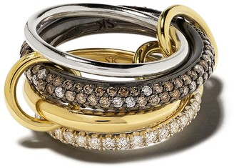 Spinelli Kilcollin 18kt gold and sterling silver Vega CCW diamond ring