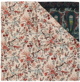 Colombo Floral And Paisley Print Scarf