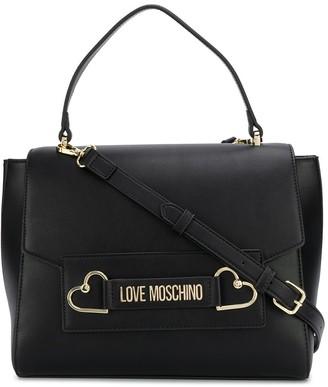 Love Moschino Logo Plaque Tote Bag