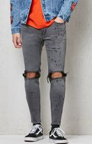 PacSun Skinniest Destroyed Gray Flex Stretch Jeans
