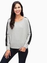 Splendid Mixed Media Sweatshirt
