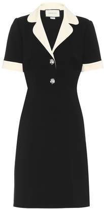 Gucci Embellished stretch jersey dress