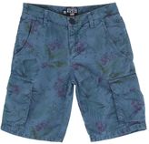 North Sails Floral Print Cotton Poplin Cargo Shorts