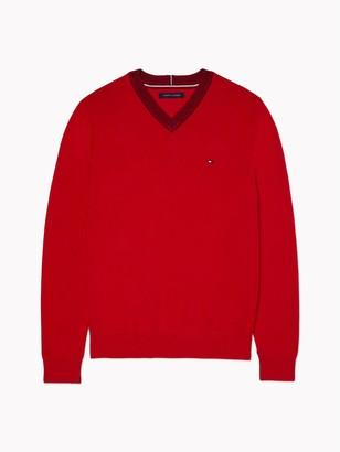 Tommy Hilfiger Essential Tonal V-Neck Sweater