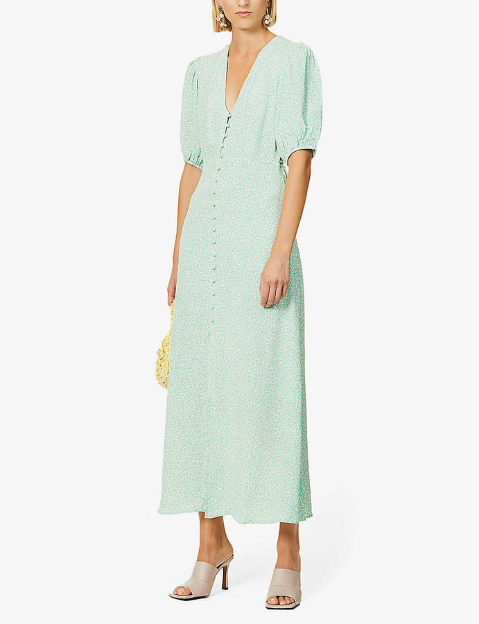 Rixo Staci floral-print woven maxi dress