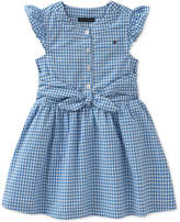 Tommy Hilfiger Gingham Cotton Dress, Little Girls