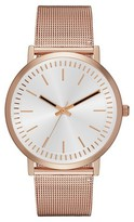 Merona Women's Mesh Strap Slim Watch Rose Gold