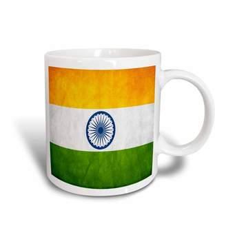 3drose 3dRose Indian Flag, Ceramic Mug, 11-ounce