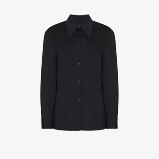 Low Classic Cowl Neck Button-Up Shirt