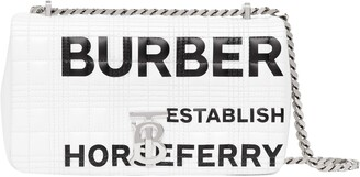 Burberry Small Lola TB Horseferry Print Quilted Check Shoulder Bag