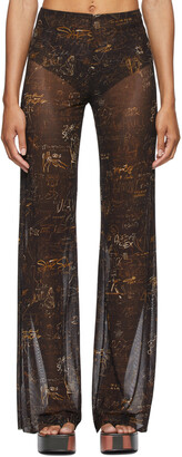Jean Paul Gaultier SSENSE Exclusive Brown Les Marins Graffiti Print Leggings