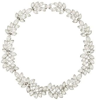 Kenneth Jay Lane Crystal-Embellished Leaf Necklace