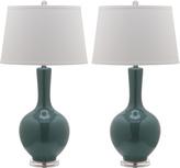 Safavieh Teal Alejandra Table Lamp - Set of Two