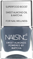 Nails Inc Powered by Matcha Gloucester Gardens Sweet Almond Nail Varnish 14ml
