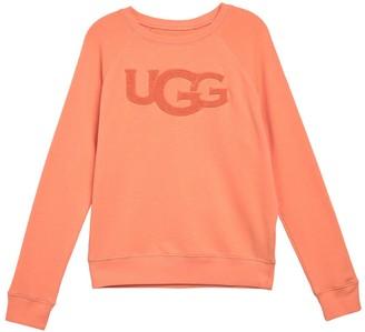 UGG Fuzzy Logo Raglan Sleeve Sweatshirt