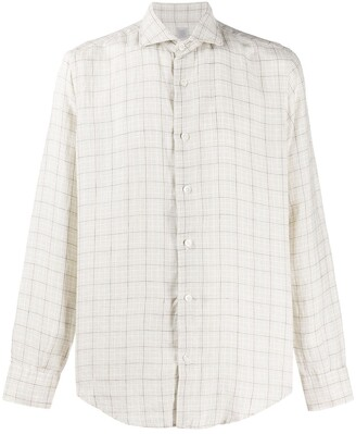 Eleventy Checked Tailored Shirt