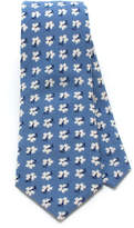 General Knot & Co 1940s Blue Daisy Necktie
