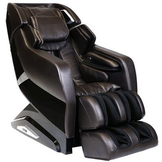 Infinity Riage Reclining Adjustable Width Full Body Massage Chair Infinity Upholstery Color: Brown