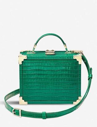 Aspinal of London The Trunk croc-embossed leather bag