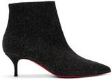Christian Louboutin Black Glitter So Kate 55 Boots