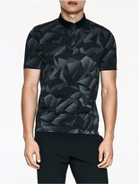 Calvin Klein Platinum Shadow Geometric Polo Shirt