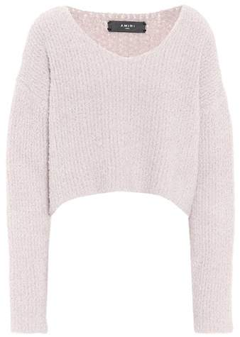 Amiri Cropped wool-blend sweater