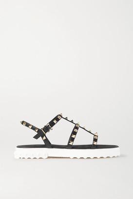 Valentino Garavani Rockstud Leather Sandals - Black