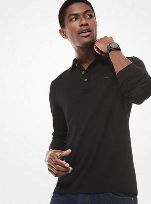 Michael Kors Cotton Long-Sleeve Polo Shirt