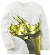 Carter's Long-Sleeve Foil Print Dinosaur Graphic Tee