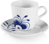Royal Copenhagen Blue Fluted Mega Cup & Saucer