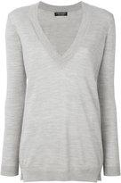 Twin-Set deep V-neck sweater - women - Wool - M