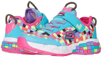 Skechers Sport - Power Pixels (Little Kid/Big Kid) (Turquoise/Multi) Girls Shoes
