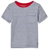 Gap Deep Cobalt Blue Stripe Short Sleeve Tee