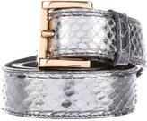Prada Metallic Snakeskin Belt