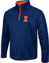 Men's Stadium Illinois Fighting Illini College Embossed Sleet Quarter-Zip Pullover