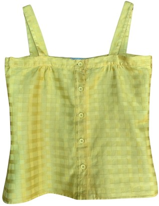 Christian Dior Yellow Cotton Top for Women Vintage