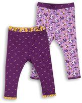 Kids Clothing- Mini Club Brand 15 Mini Club Baby Girls Legging 2 Pack Purple Floral
