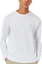 Topman Defaced Foil Print Long Sleeve T-Shirt